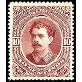 Costa Rica 1889 Sc #28 Bernardo Soto Alfa 10c Con Matasello.