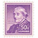 Us Sc #1051 - 1955 50c Susan B. Anthony Con Matasello.