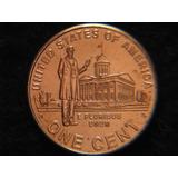2009 P. 1 Centavo De Dolar Bincentenario Lincoln Vida Profes
