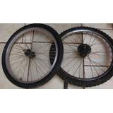 Aro Con Llanta Y Horquilla Para Bicicleta.