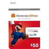 Nintendo Eshop $50 Gift Card - Switch | Wii U | 3ds