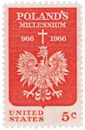Us Sc #1313 - 1966 5c Polish Millennium Con Matasello.