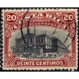 Costa Rica 1901 Sc #49 Teatro Nacional 20c Con Matasello.