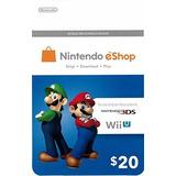 Nintendo Eshop $20 Gift Card - Switch | Wii U | 3ds