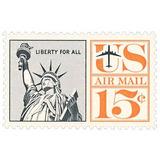 Us Sc #c63 - 1961 15c Statue Of Liberty Con Matasello.