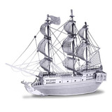 Aipin 3d Diy Rompecabezas De Acero Inoxidable Barco Pirata P