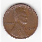 1940 P Lincoln 1 Centavo De Dolar Wheat Penny. U.s.a.