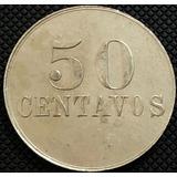 Moneda Bole Real Way Del Ferrocarril Costa Rica 50 Centavos.
