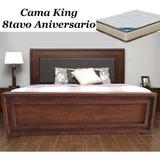 Cama King. Modelo Aniversario Con Colchón Duo. Nueva