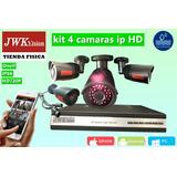 Kit 4 Camaras Ipc Seguridad Bullet Metal Contra Agua Jwk