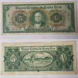 Billete De 5 Colones De Costa Rica, Serie:b.