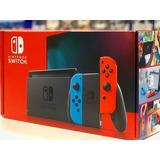 Nintendo Switch Versión 2019 2.0 Más 3 Juegos Y Estuche