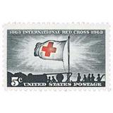 Us Sc #1239 - 1963 5c Red Cross Centennial Con Matasello.