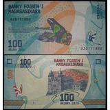 Billete De Madagascar 100 Ariary Numismatic Collection