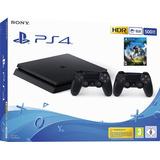 Playstation 4 Ps4 Slim 500gb 2 Controles 1 Juego Tienda *_*