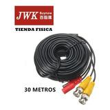 Cable Siamés Cctv 30m Para Cámaras De Seguridad Jwk Vision
