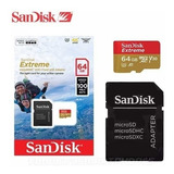 Sandisk Extreme 64gb 4k (adap. Microsdxc A Sd Incluido)