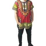 Camisa De Hombre Con Estampados Afrocaribeño