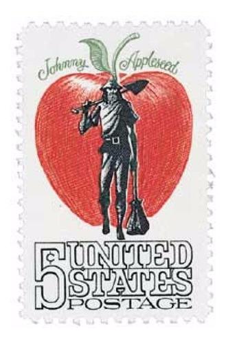 Us Sc #1317 - 1966 5c Johnny Appleseed Con Matasello.