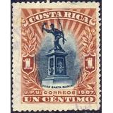 Costa Rica 1907 Sc #59 Juan Santamaria 1c Con Matasello.