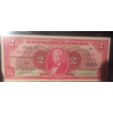 Serie Baja Billete Costa Rica 2 Colones