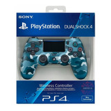 Control Playstation Dualshock 4 Ps4 Camuflado Azul Original