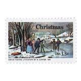 Us Sc #1702 - 1976 13c Christmas, Currier Con Matasello.