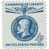 Us Sc #1147 - 1960 4c Thomas G. Masaryk Con Matasello.