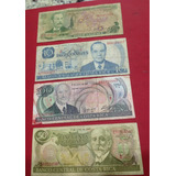4 Billete Antiguos De Costa Rica Jmg