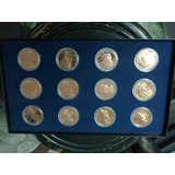 12 Monedas Coleccion Usa, 1 Onza De Cobre.
