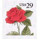 Us Sc #2490 - 1993-95 29c Red Rose,  Con Matasello.