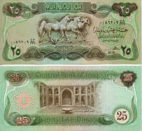 Billete De Irak 25 Dinares Unc Apo