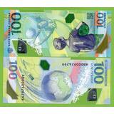 Billete De Russia 100 Rublos 2018 P-new Commemorativo .mlc