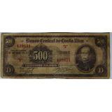 Billete De  500 Colones  Serie A Antiguo De Colección De C.r