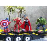 Avengers Kit De 4 Figuras Con Pedestal