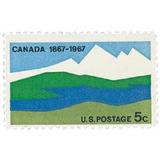 Us Sc #1324 - 1967 5c Canada Centenary Con Matasello.