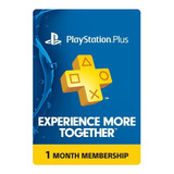Psn Playstation Plus 1 Mes - Ps4