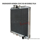 Radiador Honda Civic 92 - 00 Doble Fila , Oferta