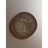 Moneda Antigua De Costa Rica De Plata 50 Centavos 1865 Jmg