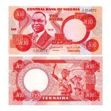 Billete De Nigeria 10 Naira Numismatic Collection