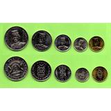 Monedas De Brunei  Lot 5 Pcs Unc. Mlc