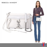 Rebecca Minkoff Bolso Mini Mac Blanco -60% - Original Nueva