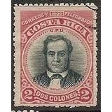 Costa Rica 1901 Sc #52 Juan Rafael Mora 2c Con Matasello.