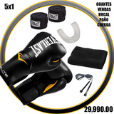 Guante Boxeo Everlast 10-12-14-16-oz Venda Bucal Cuerda Paño