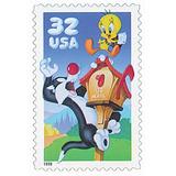 Us Sc #3204a ¿ 1998 32c Sylvester & Tw, Usada Con Matasello.