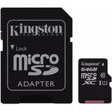 Kingston Micro Sd 64 Gb Clase 10 Con Adaptador Sd (gadroves)