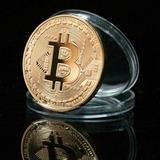 1 Unids Monedas Conmemorativas Del Modelo De Bitcoin De Oro