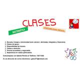 Clases Particulares De Matemática Y Contabilidad Básica