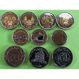 Monedas De Panama  Lot 10 Pcs Unc. Mlc
