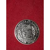 Moneda De Plata Aluciva Al Mundial Usa 1998 Una Pulgada